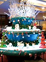 店舗内のクリスマス演出